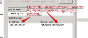 Now, change the Master Servers accordingly, too!